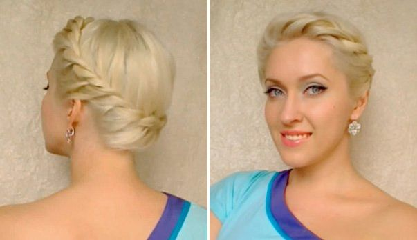 Twisted Crown Braid Updo Tutorial: click and watch the video tutorial