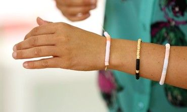 This is a sophisticated twist on the summer camp friendship bracelet. Make it for yourself and your friends!