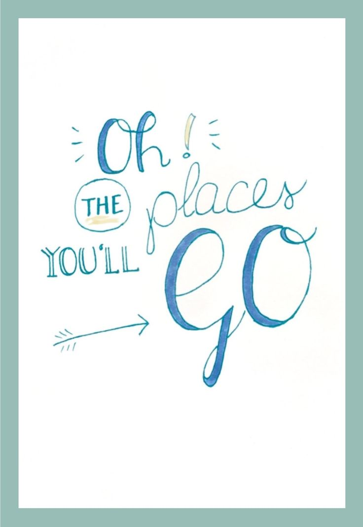My first handlettering! #travelquote #drseuss Today is your day. You're off to Great Places! You're off and away!