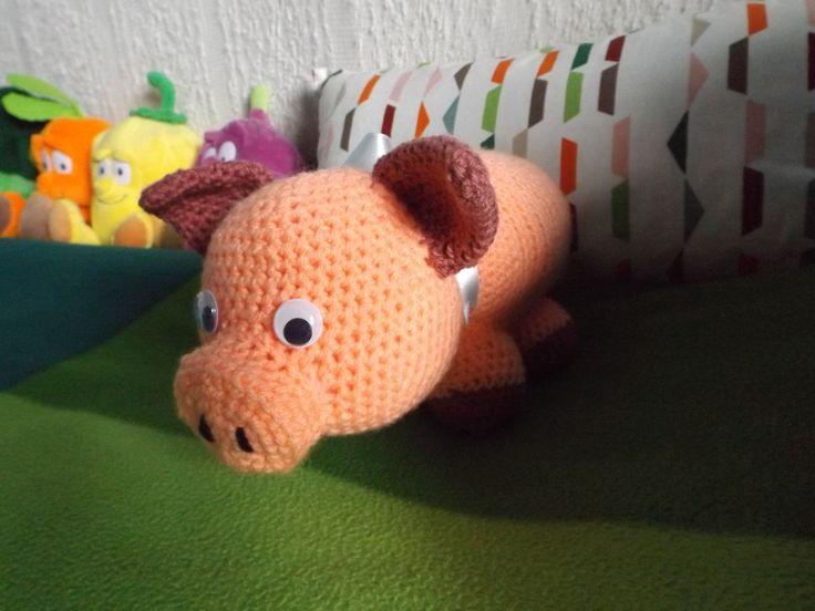 Horgolt malac :) (Crocheted piggy) #crochet #amigurumi #piggy # cute #olyanmintmazsola