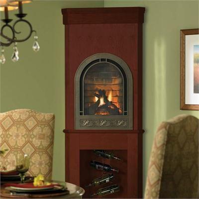 mini corner fireplace google search