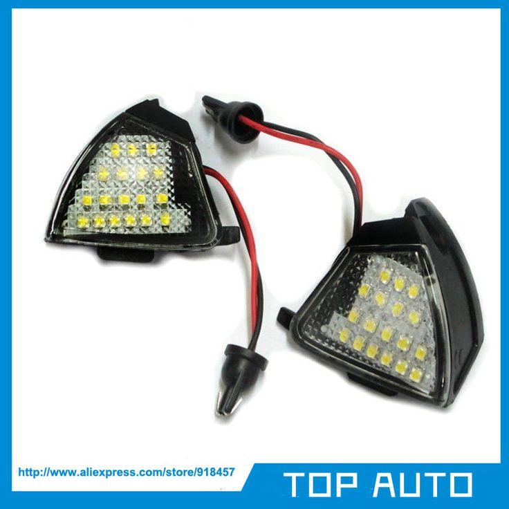 2Pcs LED Side Mirror Puddle Lights No Error for Vw Golf 5 Mk5 MkV Passat b6 Jetta Eos