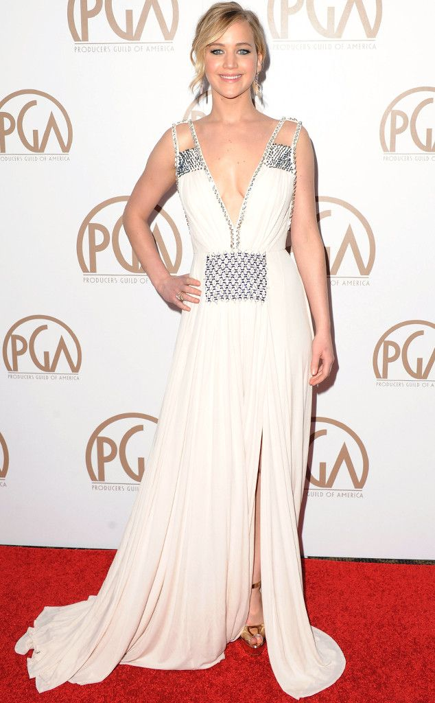 2015 Producers Guild Awards: Jennifer Lawrence Stuns in Plunging Gown, Birdman Wins Big—See Pics and Winners List!  Jennifer Lawrence, PGA Awards
