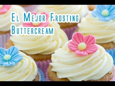 El Mas Rico Frosting Buttercream Sin Azucar Glas Ni Huevos - YouTube