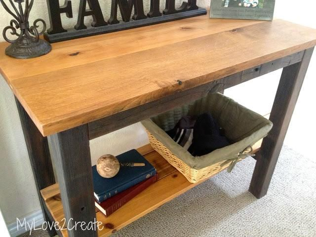 DIY Furniture  DIY Reclaimed Wood Table