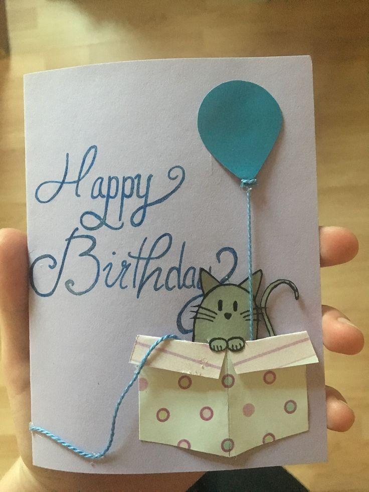 Diy Birthday Card Ideas Diy Funny Fordad Homemade Forfriends Cat Birthday Card Birthday Cards For Friends Birthday Cards Diy