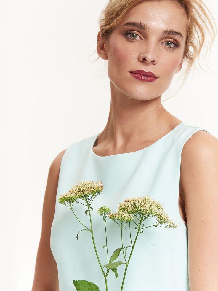 Top Secret miętowa sukienka z falbaną wedding dress