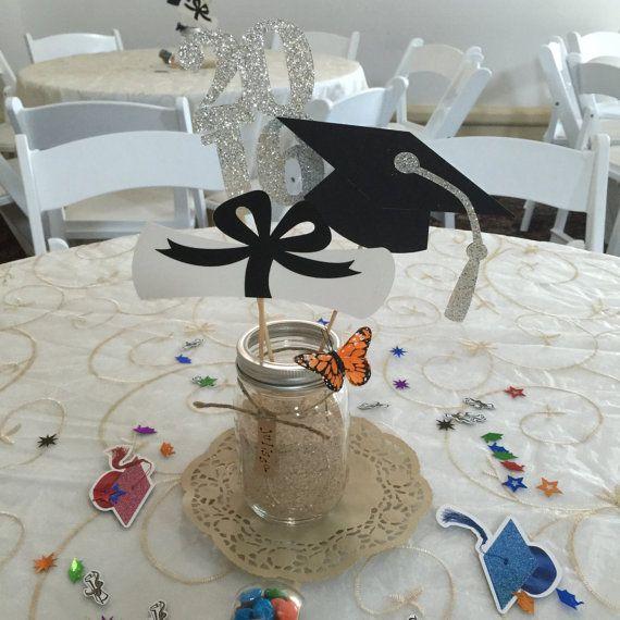 Centro de mesa graduación pieza central de por PreciousPaperMakings