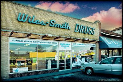 Wiles-Smith Drugstore---Union Avenue---historic drug store serving the best lunches