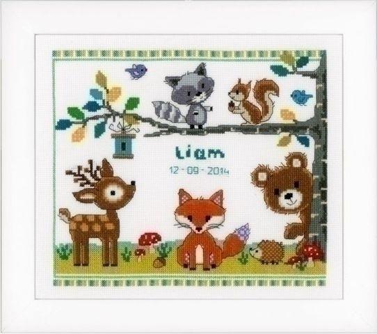 Vervaco Geboortetegel bosdieren I 0150179