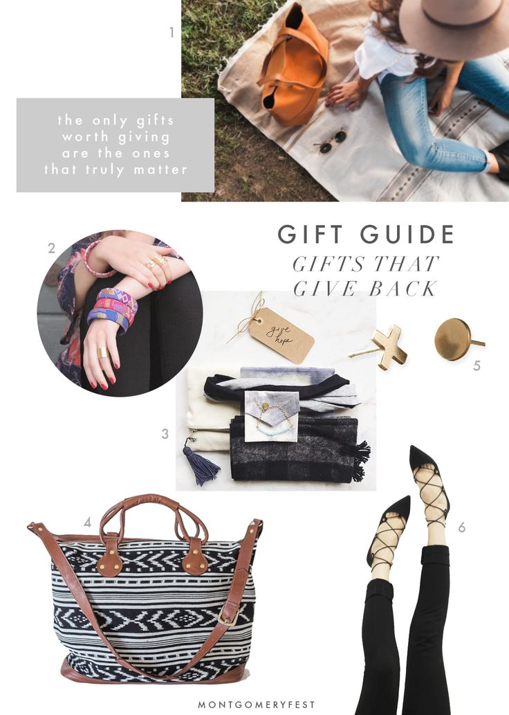 GIFT GUIDE // These companies give back on every purchase you make with them, so you can feel extra good about gifting these items (or treating yourself!)