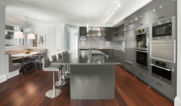 White appliances instead of stainless steel. 55 Modern Kitchen Design Ideas That Will Make Dining a Delight