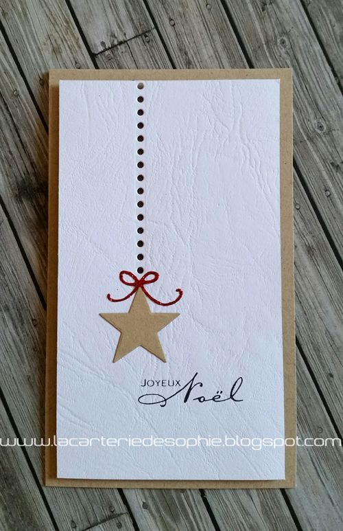carte de noel faite maison 65 vie www.cartefaitmain.eu #carte #diy Plus