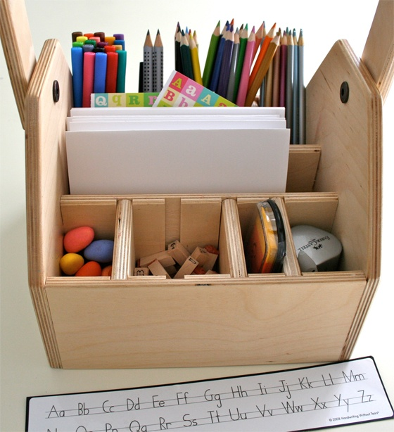 playful learning   writing caddy