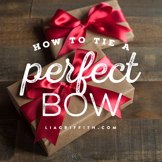 Looking to tie the perfect bow. Check out this video and tutorial.