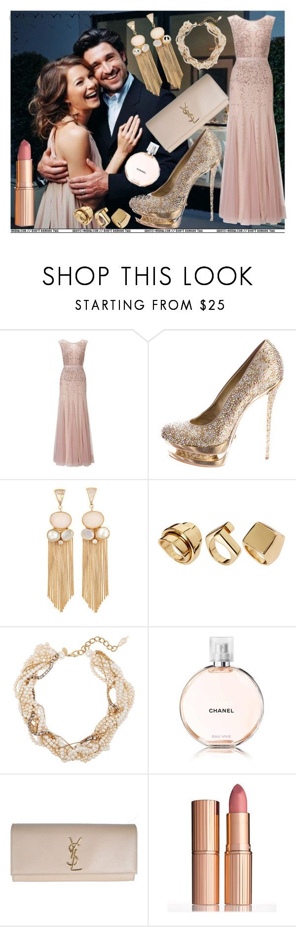 """So Pick Me, Choose Me, Love Me💕"" by s-he-be-lie-ve-d ❤ liked on Polyvore featuring Grey's Anatomy, Adrianna Papell, Gianmarco Lorenzi, Atelier Mon, River Island, Erickson Beamon, Chanel and Charlotte Tilbury"