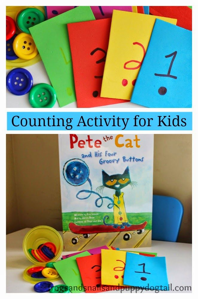 Counting Activity for Kids to go with Pete the Cat and his Four Groovy buttons by FSPDT