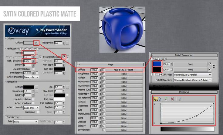 Vray Plastic Satin Colored Material 3ds Max
