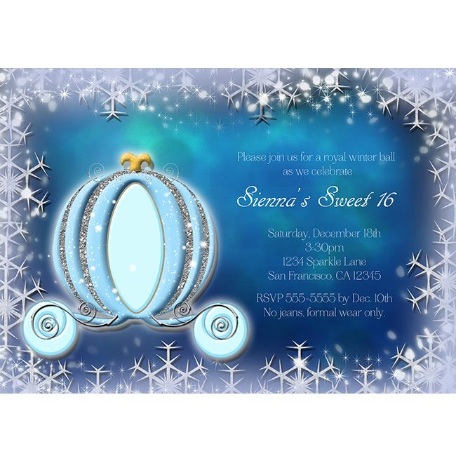 Winter Snowflakes Cinderella Royal Princess Carriage ...