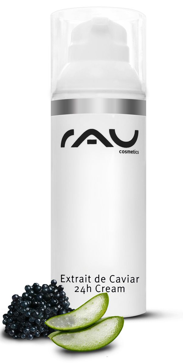 RAU Extrait de Caviar - 24 h cream - Deze 24-uurs luxe crème is vol werkzame stoffen en beschermt en verzorgt de droge en rijpe huid tegen kraaiepootjes http://www.rau-cosmetics.nl/rau-caviar-serie/59/rau-extrait-de-caviar-24h-creme-50-ml-topseller-voor-de-rijpe-huid-met-q10-pompje #huidverzorging #raucosmetics #skincare