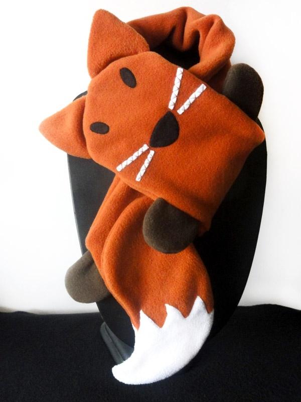 Echarpe polaire renard orange taille enfant