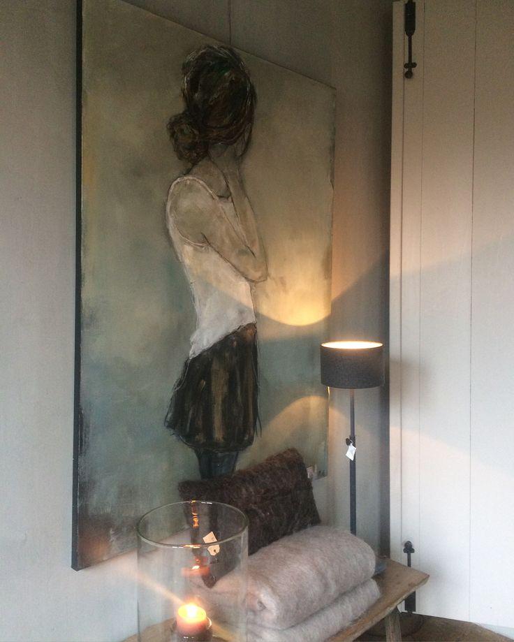 """ Looking back ""  @ De Stamkamer / Lienden  Figuratief / figurative art"