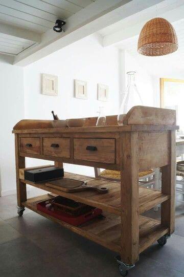 Mejores 21 imágenes de ISLAS DE COCINA by antigua madera en ...