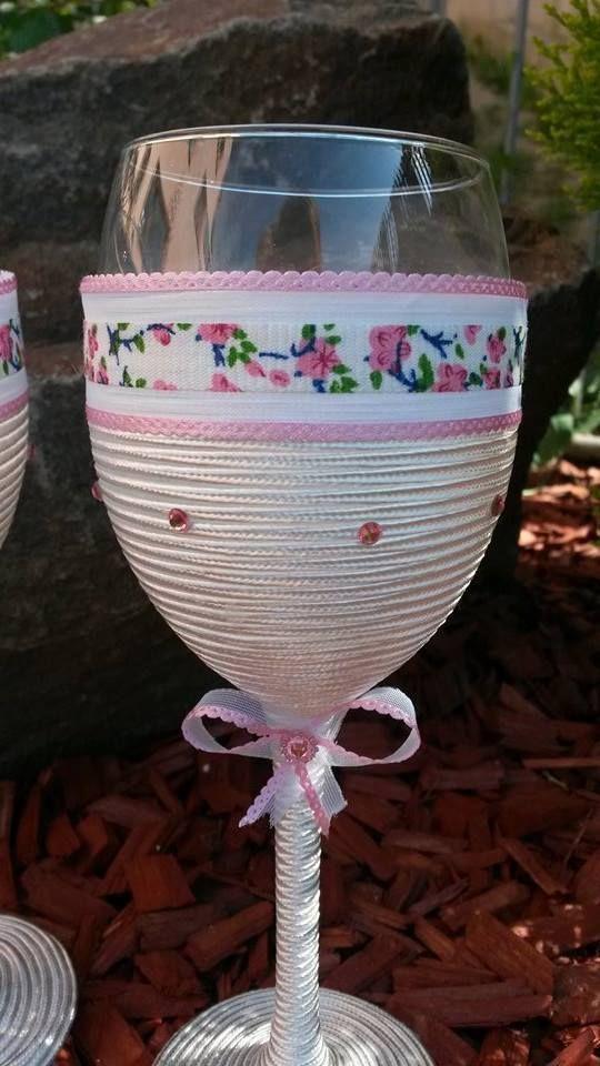 Wedding glasses decorated with folklore. Hand Made. Slovakia  Price: 19,90 €  Contact: mirka.lojanova@gmail.com