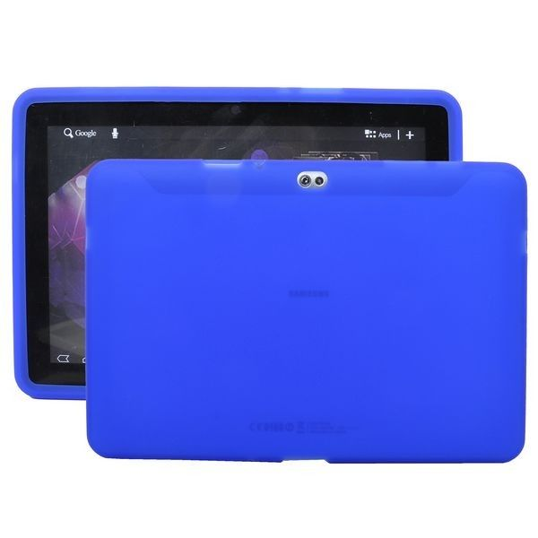 Soft Shell Transparent (Blå) Samsung Galaxy Tab 10.1 P7500 Cover