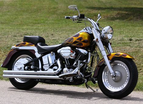 Photo of 1993 Harley Fat Boy Softail motorcycle by SouthEast Custom Cycles.