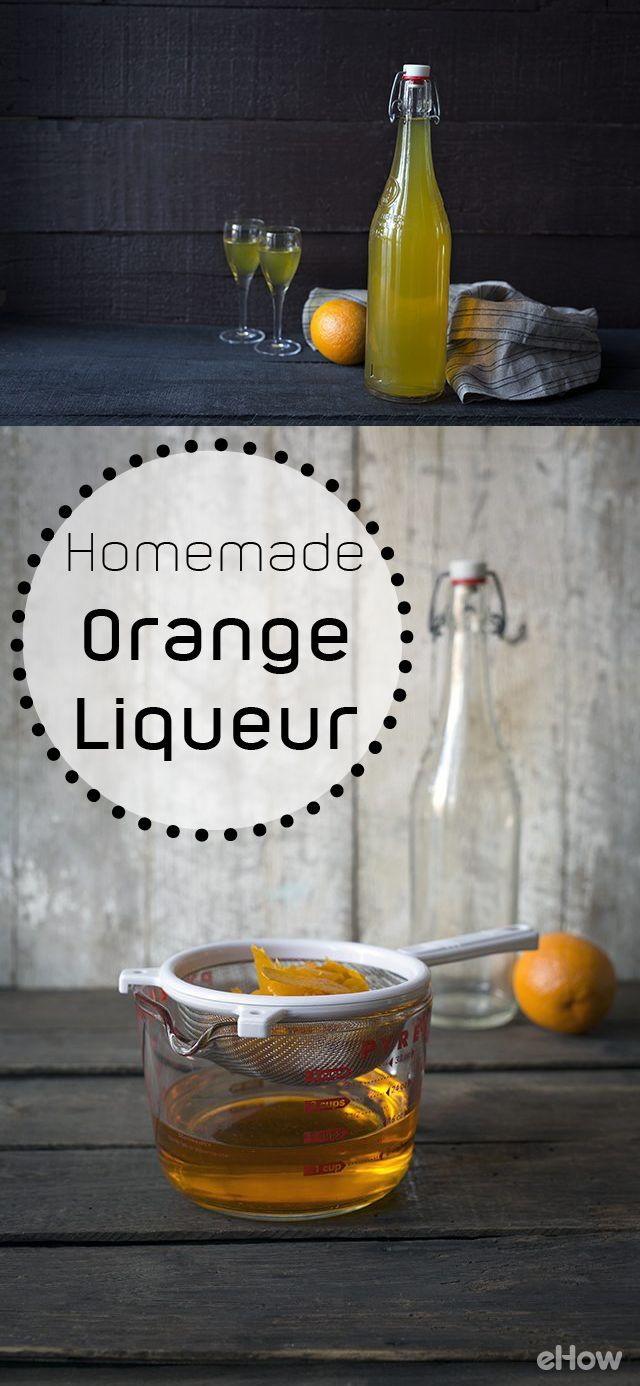 DIY orange liqueur! This recipe is for a basic orange liqueur that can be used as a starting point that leads to a world of possibilities. Grand Marnier, one of the most popular orange liqueurs, is prepared using a Cognac base. You can add spices like cinnamon sticks or orange zest.  Makes a great housewarming gift! Recipe here: http://www.ehow.com/how_6296115_make-homemade-orange-liqueur.html?utm_source=pinterest.com&utm_medium=referral&utm_content=freestyle&utm_campaign=fanpage