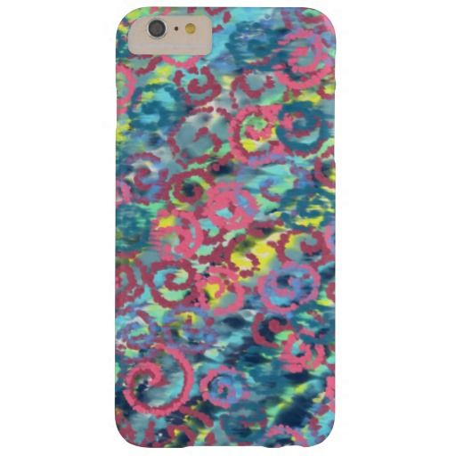 Pink Spirals Happy Design Barely There iPhone 6 Plus Case, mobile case design by artist Charles Bridge 7x