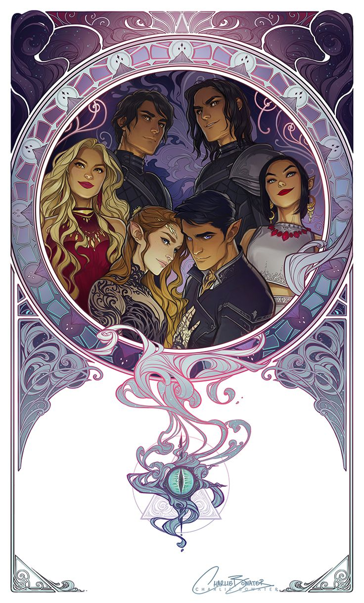 """charliebowater: """" My Mucha inspired take on The Inner Circle is all done! This was so much stinking fun. Prints, as thoroughly requested, are available as a hand signed limited edition run over on Etsy, and regular prints on Society 6 :) """" It's..."""