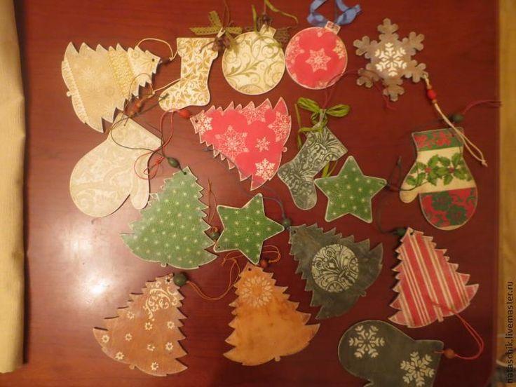 Новогодние подвески своими руками - Ярмарка Мастеров - ручная работа, handmade