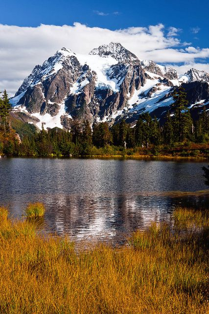 Mount Shuksan, North Cascades National Park, Washington State; photo by JD Hascup*