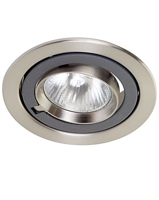 Adjustable Recessed Spotlight - Chrome | Fifty Plus