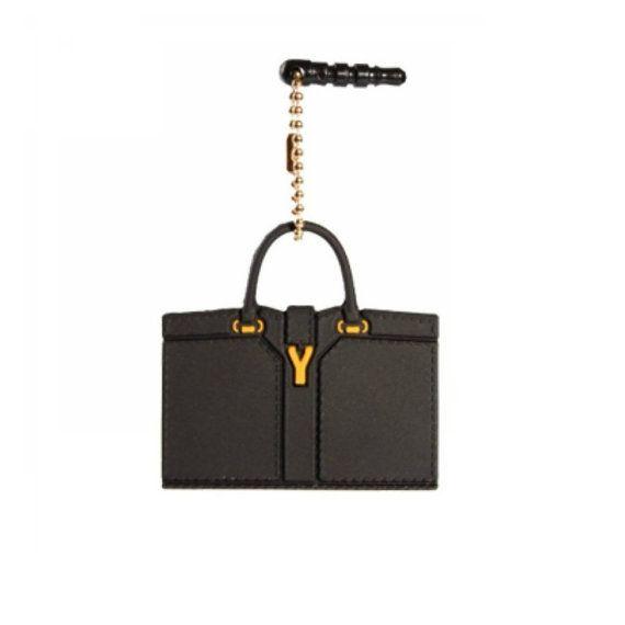 YSL Handbag Iplunge Dust Cap Ear Jack Mini Luggage by VintageHop, $8.95