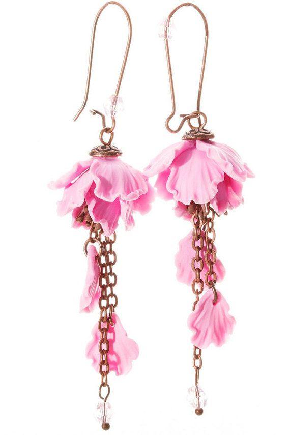 Anese Earrings Sakura Pink Flower Dangle Fl Handmade Gift For Her Finds
