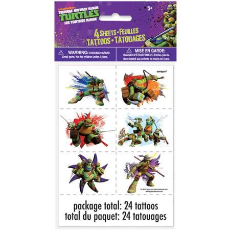 Teenage Mutant Ninja Turtles Tattoo Sheets 4ct