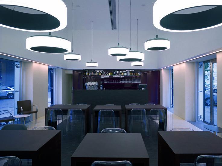 #Trono, designed by Sottsass Associati. Installation at Open Cafè, Milan, Italy.