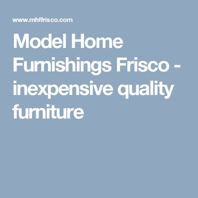 Model home furnishings inc