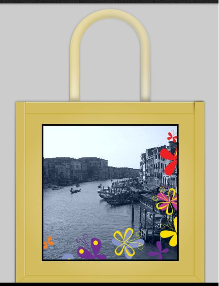 Here's my piece of custom shopping bag designed with ASDA-Photo personalizing software.