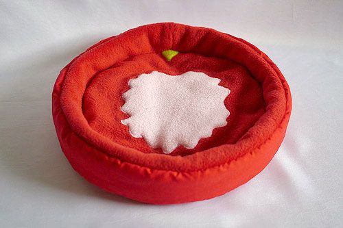 cosy cuddle bed tomato for guinea pigs by TheCosyHut on Etsy