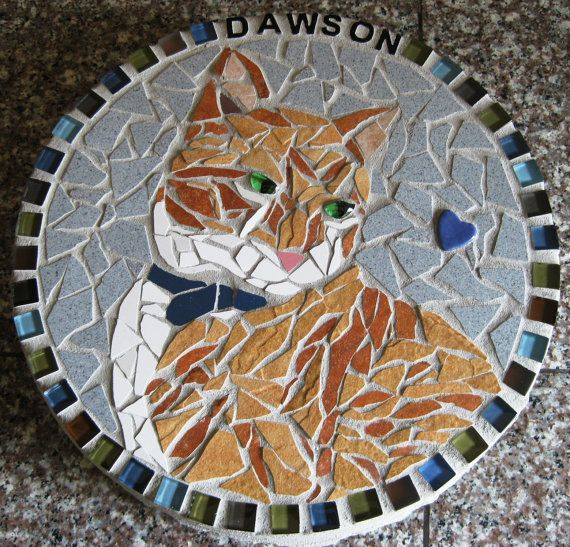 Mosaic Stone Cement : Best images about decorative stepping stones paths on