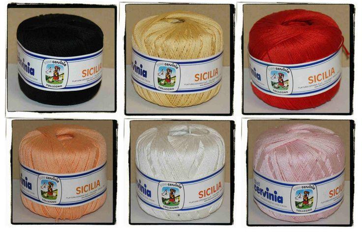 STOCK Gomitoli cotone SICILIA da CO.S100 a CO.S108 | eBay