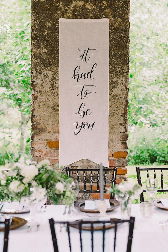 It Had to Be You Wedding Sign  https://heyweddinglady.com/best-day-ever-fairy-tale-destination-wedding/    #realwedding#weddingday#realbride#destinationwedding#travel#fairytale#wedding#weddinginspiration#weddingreception #signage #quotes #weddingdecor