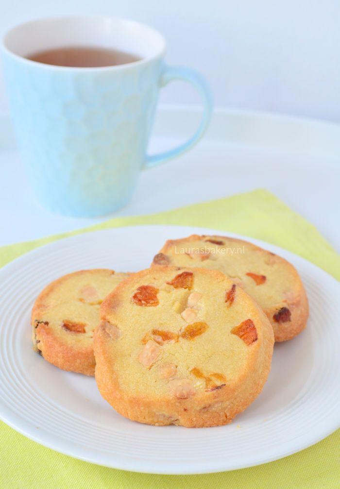 Apricot white chocolate cookies - Abrikozen koekjes met witte chocola - Laura's Bakery