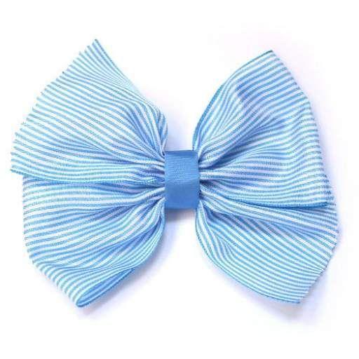 Lazo rayas Azul turquesa blanco