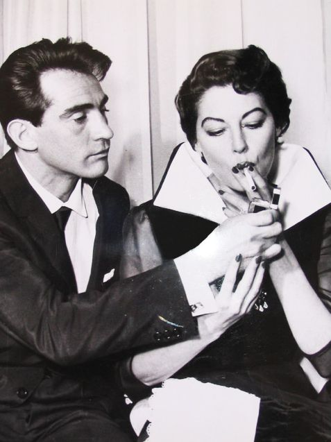 "oldhollywoodmonamour:  ""Walter Chiari with Ava Gardner in 1958  """