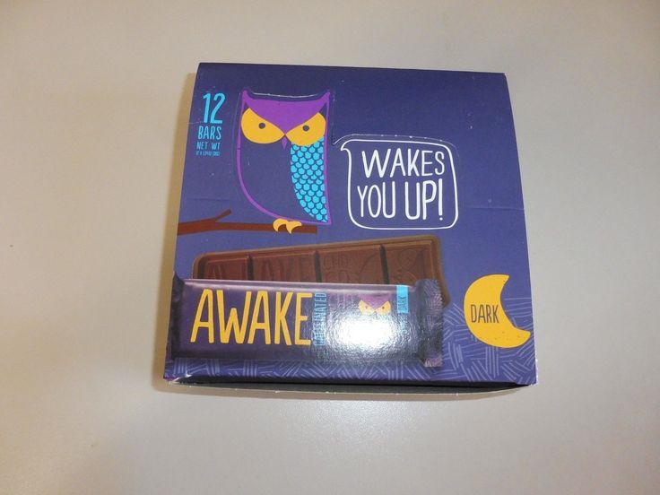 36 awake caffeinated dark chocolate 134 oz bars energy no